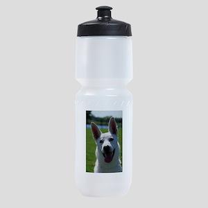 white-german-shepherd Sports Bottle