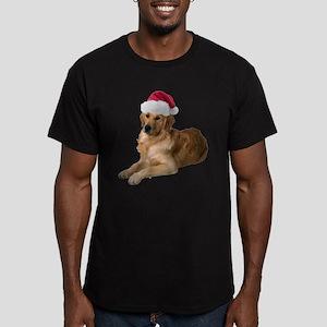 FIN-santa-golden-retriever Men's Fitted T-Shir
