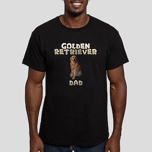 Golden Retriever Dad Men's Fitted T-Shirt (dark)
