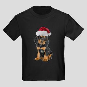 Gordon Setter Santa Kids Dark T-Shirt