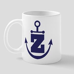 Anchor Monogram Z Mug