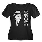Capone Women's Plus Size Scoop Neck Dark T-Shirt