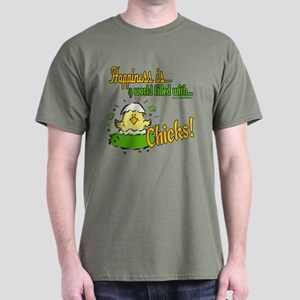 Happiness is a Chick Dark T-Shirt
