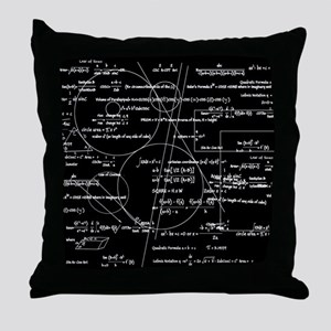 Math Bits Throw Pillow