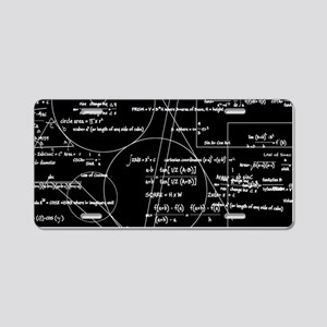 Math Bits Aluminum License Plate