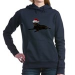 FIN-santa-blacklab Women's Hooded Sweatshirt