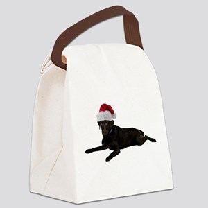 FIN-santa-blacklab Canvas Lunch Bag