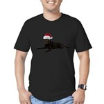 FIN-santa-blacklab Men's Fitted T-Shirt (dark)