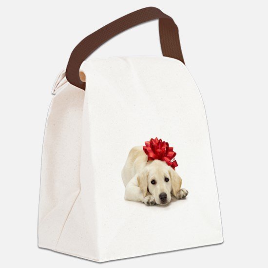 Yellow Lab Puppy Canvas Lunch Bag