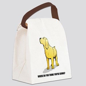 lab-where-do-you-think Canvas Lunch Bag