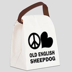 FIN-peace-love-old-english-sheepdog Canvas Lun