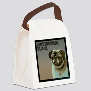 FIN-hipster-pug Canvas Lunch Bag