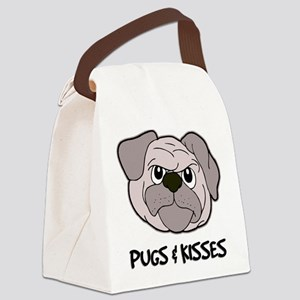 FIN-pugs-kisses Canvas Lunch Bag
