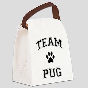 Team Pug Canvas Lunch Bag