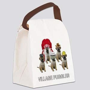 FIN-village-puggles-TITLE-WH Canvas Lunch Bag