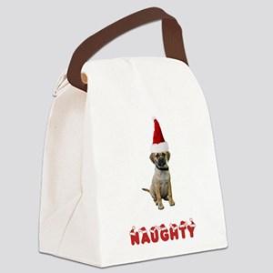 FIN-puggle-naughty Canvas Lunch Bag
