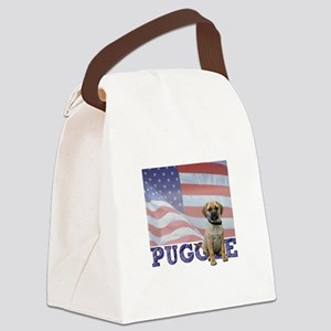 FIN-puggle-patriotic2 Canvas Lunch Bag