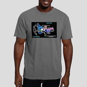 Ear Diagram labeled Mens Comfort Colors Shirt