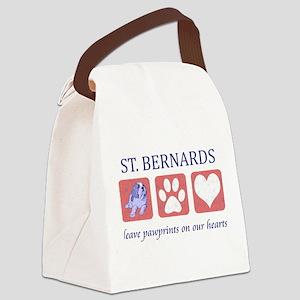 FIN-st-bernards Canvas Lunch Bag