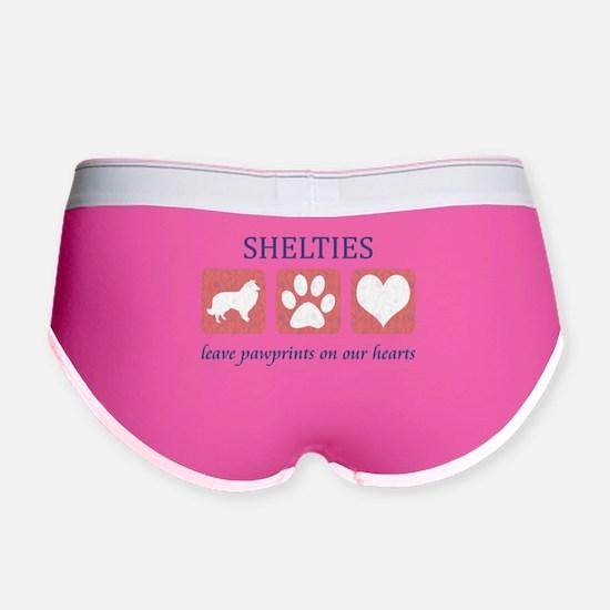 FIN-sheltie-pawprints.png Women's Boy Brief