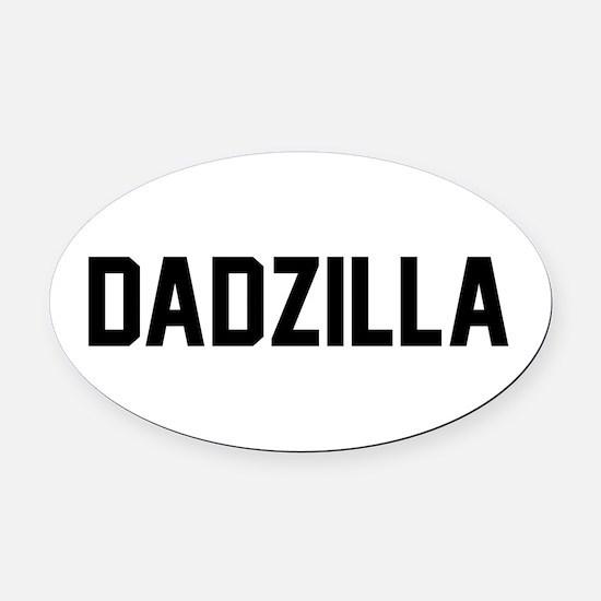 DADZILLA Oval Car Magnet