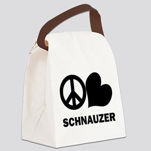 FIN-peace-love-schnauzer Canvas Lunch Bag