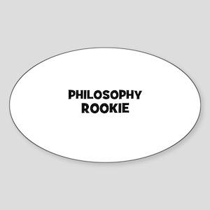 Philosophy Rookie Oval Sticker