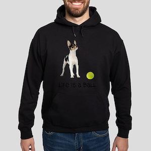 FIN-toy-fox-terrier-life Hoodie (dark)