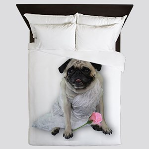 Bridal Lingerie Pug Queen Duvet