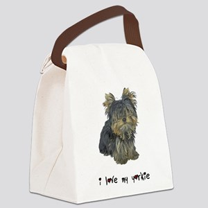 I Love My Yorkie Canvas Lunch Bag