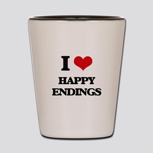 I love Happy Endings Shot Glass