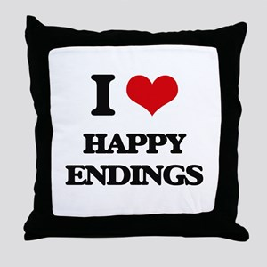 I love Happy Endings Throw Pillow