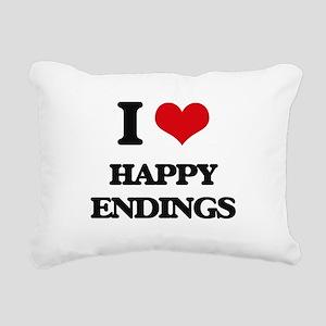 I love Happy Endings Rectangular Canvas Pillow