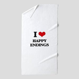 I love Happy Endings Beach Towel