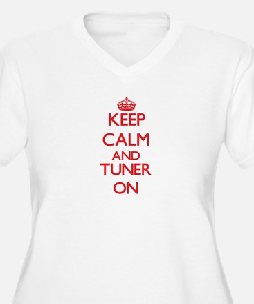 Keep Calm and Tuner ON Plus Size T-Shirt