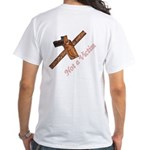 """Not a Victim"" White T-Shirt"