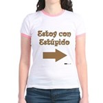 Estoy Con Estipido Right Jr. Ringer T-Shirt