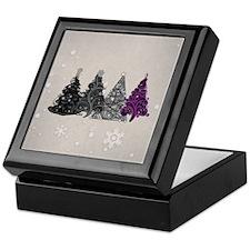 Asexual Christmas Trees Keepsake Box