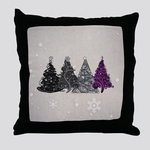 Asexual Christmas Trees Throw Pillow