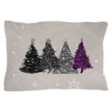 Asexual Christmas Trees Pillow Case