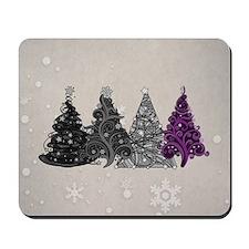 Asexual Christmas Trees Mousepad