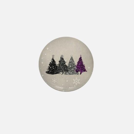 Asexual Christmas Trees Mini Button