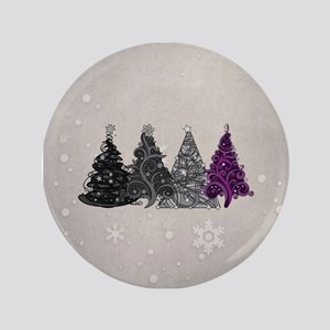 "Asexual Christmas Trees 3.5"" Button"
