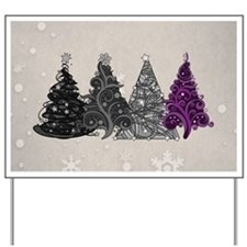 Asexual Christmas Trees Yard Sign