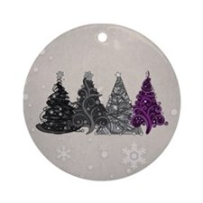 Asexual Christmas Trees Ornament (Round)