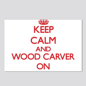 Keep Calm and Wood Carver Postcards (Package of 8)