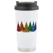 Rainbow Christmas Trees Travel Mug