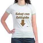 Estoy con Estupido Down Jr. Ringer T-Shirt