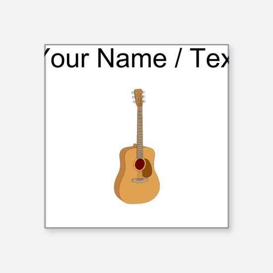 Custom Acoustic Guitar Sticker