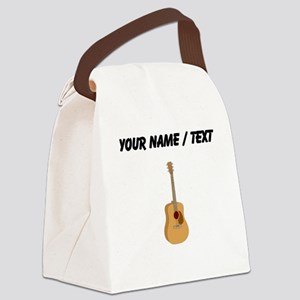 Custom Acoustic Guitar Canvas Lunch Bag